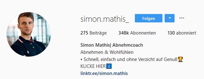 Simon Mathis Instag Profil